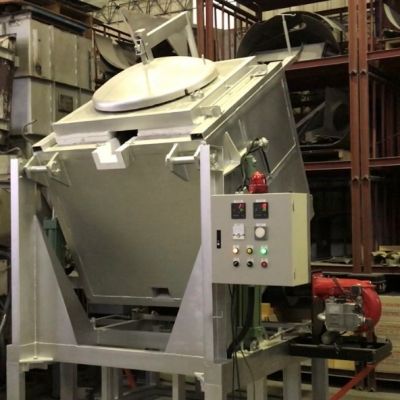 鋁合金587可傾式熔解保溫爐